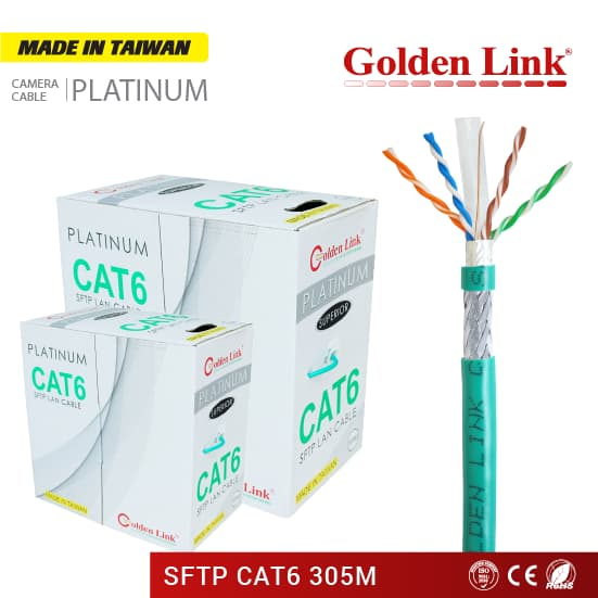 CÁP MẠNG GOLDEN LINK PLATINUM SFTP CAT 6 - MADE IN TAIWAN